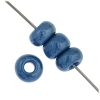 1/0 Rocaille 6.6mm Opaque blue Lustered